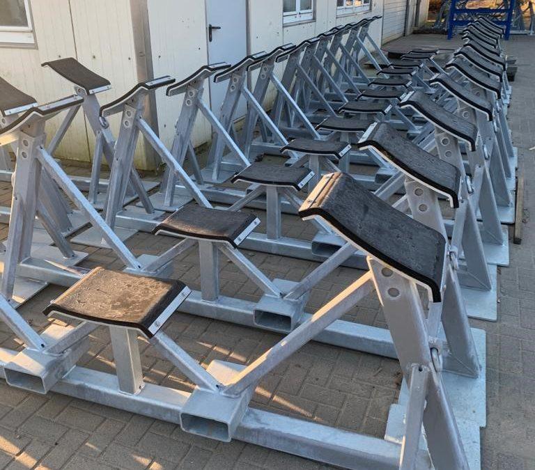 Lagergestelle für WKA-Flügel